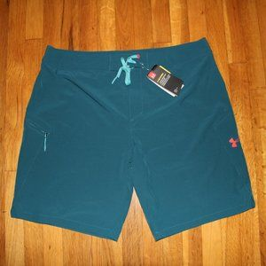 Under Armour Stretch Board Shorts Mens 40 Teal